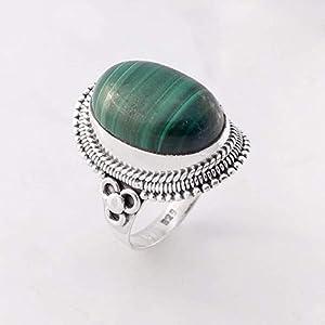 Malachite Handmade 925 Sterling Silver Ring Jewelry