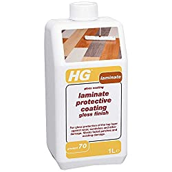 HG Laminate Gloss Coating 1L - a laminate floor polish with gloss for laminate floor protection against wear, scratches and other damage