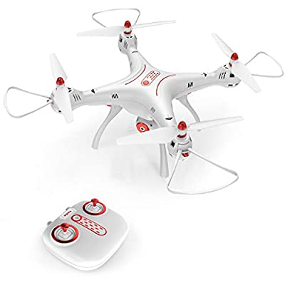 DoDoeleph Syma X8SC 4 CH 2.4Ghz 6 Axis Gyro Remote Control RC Quadcopter UFO Helicopter Drone With HD Camera Altitude Hold Headless Mode With Hover Function One Key Take Off Landing White