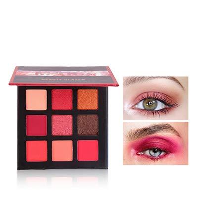 Beauty Glazed 9 Couleurs scintillement Matte Fard à Paupières Palette Shimmer Maquillage Métallique Ombre à Paupières longue durée imperméable à l'eau # 01