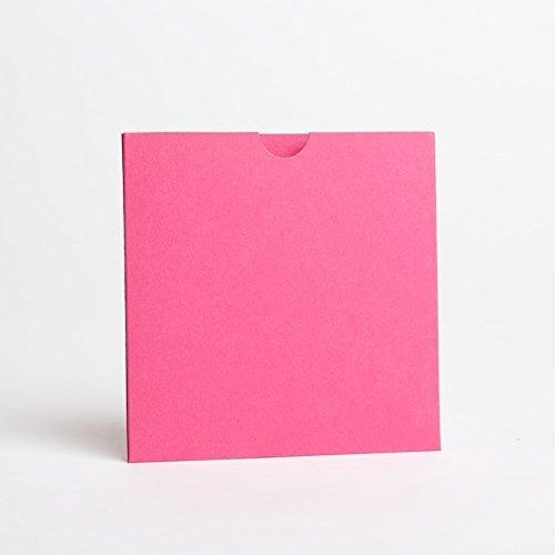 Hot Pink Matt Wallet lädt 125mmx125mm aus Faltbare lädt LTD rose Hot Pink Karten-umschläge