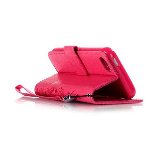 iPhone 5S Coque, iPhone SE Coque, Lifeturt [ Blanc ] Leather Case Wallet Flip Protective Cover Protector, Etui de Protection PU Cuir Portefeuille Coque Housse Case Cover Coquille Couverture avec Fonct E02-Se leva