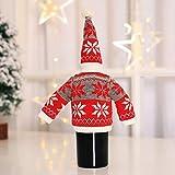 Weinflasche Cover, Malloom Wein halten Flasche Doll Cover Dekoration Home Party Weihnachtsmann Schneemann Christma Wein Set Red Snowflake Set