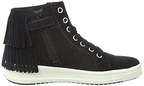 Geox J Aveup F, Sneakers Hautes Fille Schwarz (BLACKC9999)