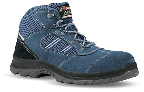 Shaker S1P Happy U-Power - Zapato de seguridad Airnet + microfibra con puntas de Carbon gris Size: 38 It1pF