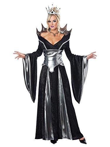Dunkle Königin Damenkostüm Märchen schwarz-silber (Kostüme Brüste Riesige /)
