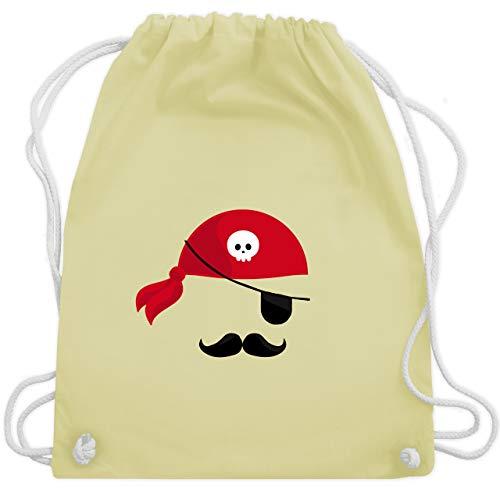 Kostüm Piraten Jugend - Karneval & Fasching - Pirat Kostüm - Unisize - Pastell Gelb - WM110 - Turnbeutel & Gym Bag