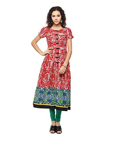 Yepme Women's Red Cotton Kurtis - YPWKURT2178_M