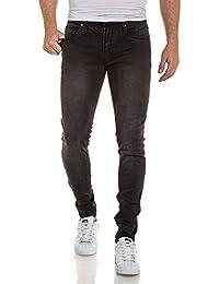 BLZ jeans - Jean homme slim noir décontracté délavé