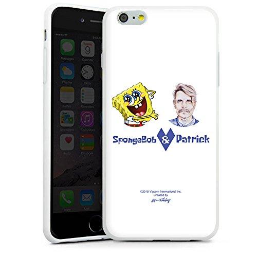 Apple iPhone X Silikon Hülle Case Schutzhülle Spongebob Merchandise Fanartikel Patrick Mohr Silikon Case weiß