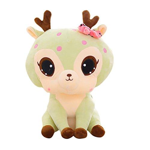 23cm Plüschtiere Gefüllte Tier Soft Simulation Schöne Plüsch Nette Deer Sammlung Puppe Stressabbau Spielzeug (Light Green)