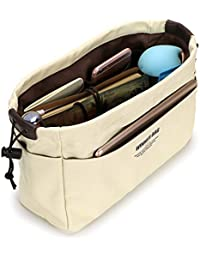 IGNPION 10 Pockets Tote Bag Organiser Insert Pouch Felt Handbag Liner Travel Cosmetic Pocket Purse Organiser - Stand on its Own