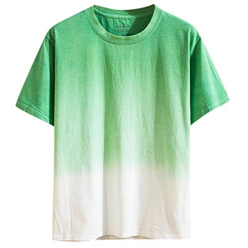 Farbige Stricken Top (BHYDRY Mode Sommer Männer Casual Tops farbig allmählich ändernden Kurzarm Shirts)
