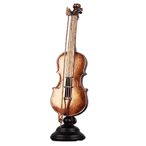 YUN Violine Dekoration Europäische Kreative Retro Wohnaccessoires Weinregal Bücherregal Weinschrank Wohnzimmer Desktop Kleine Einrichtungsgegenstände - Kupfer Farbe (Farbe : A)