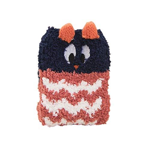 Zolimx Socken der Baby Kinder Cartoon Rutschfeste Flauschige warme Bett Schlaf Socken Weihnachten