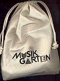 Musikgarten - Pacchetto strumenti a percussione per bambini, con panno giallo in nylon, 1 coppia di claves con battente