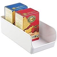 mDesign - Recipientes organizadores, para almacenamiento en refrigerador y frízer; para la cocina - Blanco