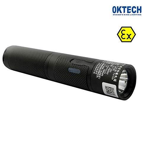 OKTECH JW7302 Explosionsgeschützte LED-Taschenlampe Mit Micro-USB-Anschluss Zum Laden Mini-Blitzleuchte ATEX Lange Zeit Dauer-Arbeits-Licht -