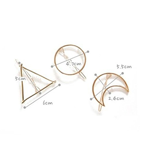 hohles geometrisches Metall Haarnadel Haar Clip Haar Styling DIY Werkzeug Frisur Hilfe ()