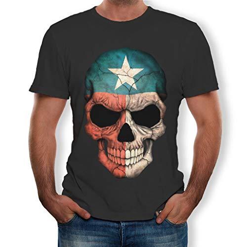 MEIbax Camisetas para Hombre de algodón de Manga Corta con...
