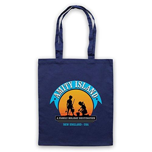 Inspiriert durch Jaws Amity Island Inoffiziell Umhangetaschen Ultramarinblau