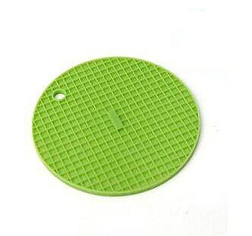 Hosaire 1X Silikon Topfuntersetzer/Topflappen rund ,hitzebeständig bis zu 230°C spülmaschinenfest, besonders hochwertig, multifunktional einsetzbar, Deckelöffner, Topfschoner, Topflappen/Topfuntersetzer