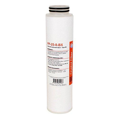 Crystal Filter Cartouche PP-25-8-BX sédiment SPUN BX 10\