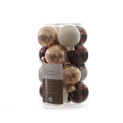 16palline palle di natale mix pure and warm in vetro 35mm diametro