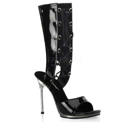 Pleaser USA Shoes - CHIC-65 - 36 - Noir/Transparent