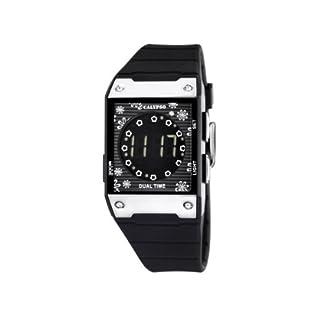 Calypso 5546/2 – Reloj de mujer de cuarzo, correa de goma color negro (con luz, cuenta atrás)