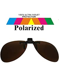 Round Clip On Brown Lens Polarized Sunglasses Lrg co111
