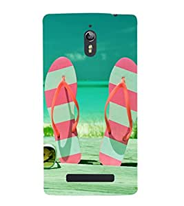 printtech Beach Hawaii Slipper Back Case Cover for Oppo Find 7 :: Oppo Find 7 QHD