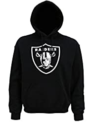 Official Oakland Raiders grande Logo sudadera con capucha