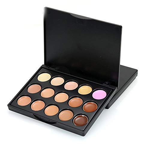 Yaoaoden 15 Farben Foundation Repair Haut aufhellen Concealer Farbkorrektur Palette # 3 -