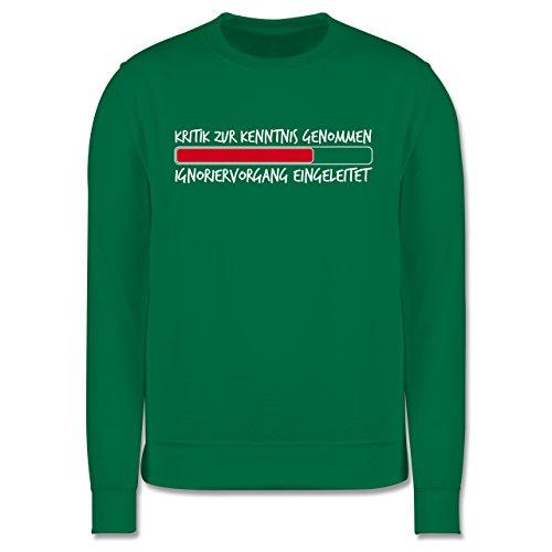 Sprüche - Kritik zur Kenntnis genommen - Herren Premium Pullover Grün