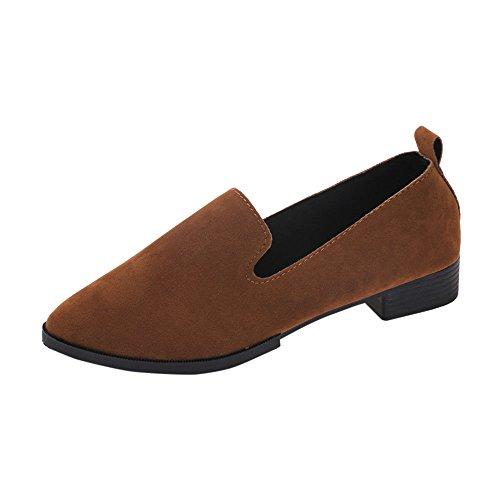 Mokassin Bootsschuhe Loafers für Damen, Dorical Frauen Wildleder Fahren Flache Schuhe Halbschuhe Slippers Casual Gartenschuhe Outdoor Erbsenschuhe 35-40 EU Reduziert(Rosa,37 EU)