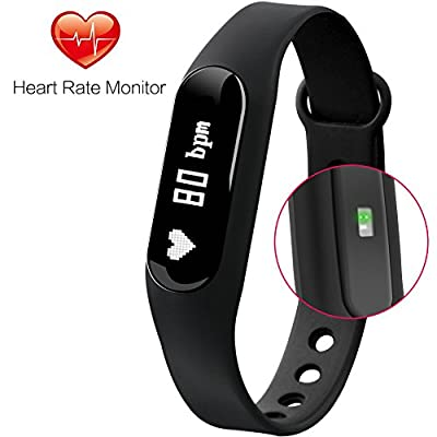Fitness Tracker Gosund C6 Heart Rate Monitoring Sleep Monitoring Smart Bracelet Fitness Band with Pedometer Call SMS Reminder from Gosund