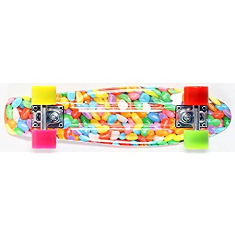 Koston Oldschool Skateboard Plastic Cruiser 70s Retro Gumballs - 22.5 x 6.0 inch - plastic skateboard with Koston ball bearings