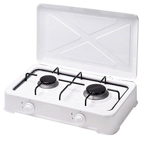Alfa 45552 - Cocina gas esmaltada blanca 2 fuegos