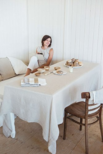 Linen Kitchen Textiles Fjord Table Linen Washed - Libeco Home, linen,  White, 170x325 cm (Tischdecke)