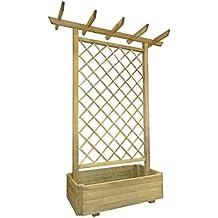 vidaXL Pérgola de madera para el jardín con macetero, 162 x 56 204 cm