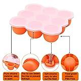 UMIGAL Babybrei Aufbewahrung zum Einfrieren von Babynahrung und als Behälter für Beikost   2 Farben zur Auswahl   BPA-frei & FDA zugelassen   9 x 75ml, ideale Portionsgröße (Orange)