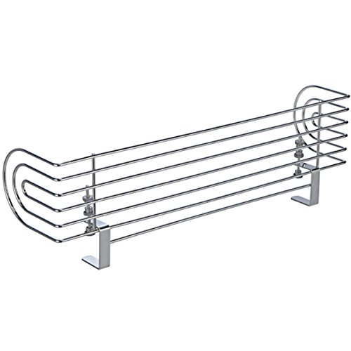 Universeller Herdschutzgitter aus verchromtem Stahl, 60x18 cm • Kindersicherung Herd Herdschutz...