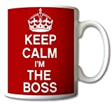 Keep Calm and Carry On I' m the Boss mug Cup Gift retro
