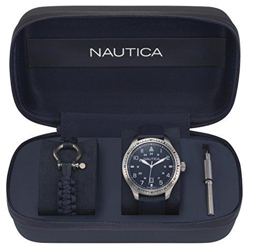 Nautica (NAVTJ) Homme Analogique Quartz Montre avec Bracelet en Cuir NAPB05001