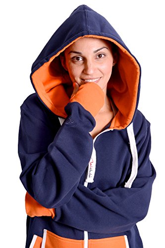Charlie McLeod The Classic Unisex Onesie in Inky Blue and Orange - S - 2
