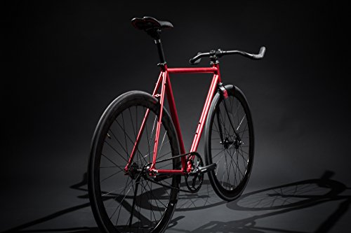 41A78947OqL - State Bicycle Unisex's Contender Premium Fixed Gear Bike-Red, 52 cm