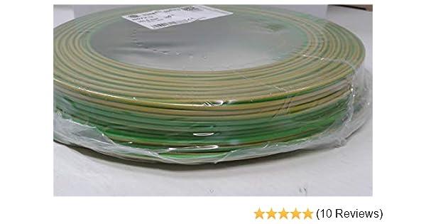 Einzelader H07V-K 4 qmm gruen-gelb Preis pro 2 m,Lieferung in einer Länge