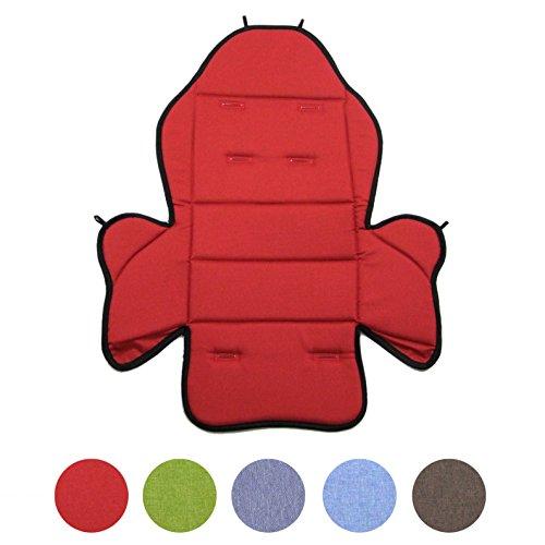 BambiniWelt24 BAMBINIWELT Ersatzbezug, Sitzkissen, Bezug für Fahrradsitz, Modell RÖMER Jockey (Modell 2, meliert) (rot meliert)