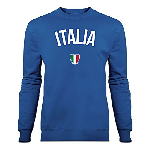 ITALIA Flag Fan Sweatshirt by Shirtcity (Sweatshirt Italienisch-flag)